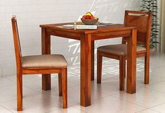 2 Seater Dining Table Set: Buy Two Seater Dining Table Set Online 2 Seater Dining Table, Small Dining Table Set, Dining Table In Kitchen, Wall Mounted Table, Wooden Street, Chairs For Small Spaces, Compact Kitchen, Square Tables, Table And Chair Sets