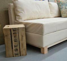 Ma maison au naturel: Un canapé avec rangement intégré à faire soi-même