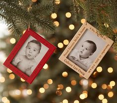 Personalized Wood Frame Ornaments