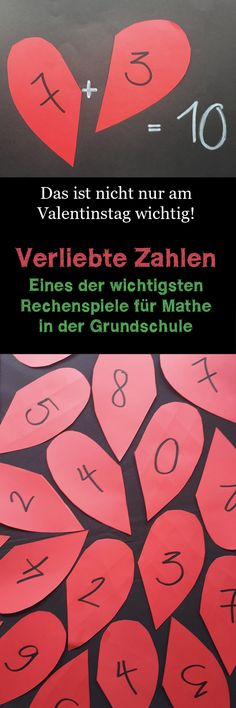 Tricks und Lernspiele Mathe Hearts with numbers in love as a memory for elementary school children Category: Schule This image. Primary Education, Elementary Education, Primary School, Kids Education, Education Quotes, Math Activities For Kids, Math For Kids, Elementary Science, Science Classroom
