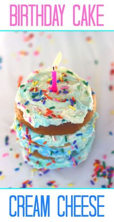 Give someone a fun start to their day with Birthday Cake Cream Cheese