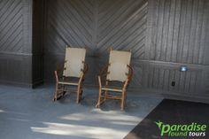 El Tovar rocking chairs, South Rim, Grand Canyon.