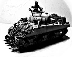 1/35 TAMIYA Early sherman in ardennes, edited photo of my scale model