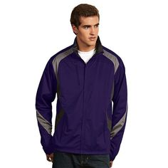 Men's Antigua Tempest Water-Resistant Golf Jacket, Size: Small, Drk Purple