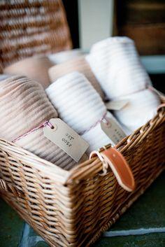 Blankets Hamper Basket Natural Pretty Pale Pink Wedding http://www.lisacarpenterphotos.com/