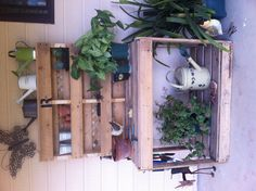 Potting Bench made from 2 wooden pallets