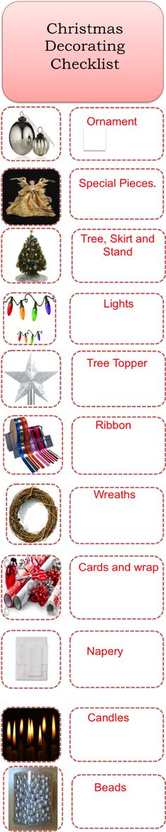 A #Christmas #decoration #checklist to help you take inventory of - audit checklist template