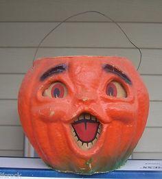 Paper Mache Jack-O-Lantern Pumpkin Vintage Halloween | eBay
