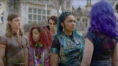 That's supposed to mean something to me Disney Descendants 3, Descendants Cast, Disney Magical World, Kenny Ortega, Mal And Evie, China Anne Mcclain, American Quotes, 3 Movie, Cameron Boyce