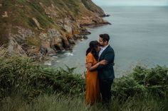 Beautiful engagement session at the Cliffs of Howth in Dublin. Cliffs of Howth. Where to travel in Ireland - Howth. Dublin Ireland, Ireland Travel, Elopements, Photo Location, Engagement Session, Irish, Coastal, Wedding Photos, Couple