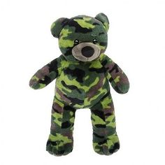 """Camo bear 15"""" - build a #plush #teddy bear furry friend #party kit,  View more on the LINK: http://www.zeppy.io/product/gb/2/391672388532/"""