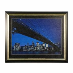 Art and Creative Marketing Manhattan Skyline and Brooklyn Bridge Framed Art - ACM01818