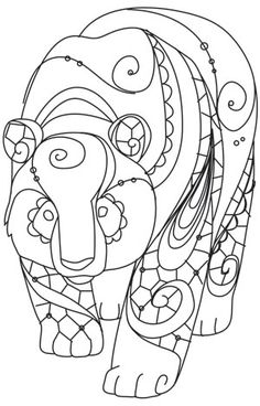 Urban Threads: Unique and Awesome Embroidery Designs Animal Coloring Pages, Colouring Pages, Adult Coloring Pages, Coloring Books, Embroidery Designs, Hand Embroidery, Machine Embroidery, Embroidery Stitches, Mandala Art