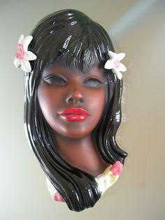 Cortendorf Wandmaske Wall Mask Junge Hawaiianerin Mädchen Girl NR 3692 | eBay
