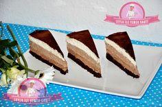 3 renkli Çikolatalı Mousse Pasta tarifi13