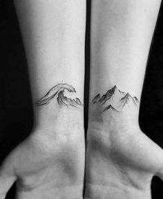 Ocean Mountain Tattoos Geometric Tattoos – foot tattoos for women Feather Tattoos, Foot Tattoos, Small Tattoos, Sleeve Tattoos, Ocean Tattoos, Tattoo Sleeves, Ring Tattoos, Temporary Tattoos, Tattoo Word