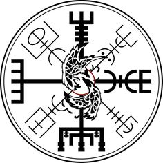 Viking Vegvisir tattoo creation