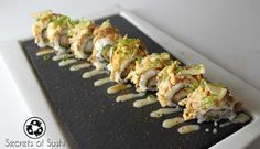 The Heaven Roll is a fitting name for this sushi recipe! The savory flavors of tempura fried, coconut shrimp are complimented by fresh lemon zest.