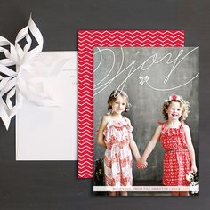 Mistletoe Joy Christmas Photo Cards by Emily Crawford   Elli