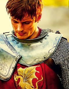 Bradley James as King Arthur on the BBC series Merlin