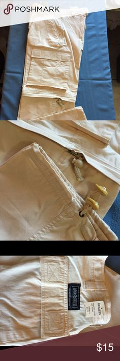 Easy zip-off pants-Men's Cream 30 %Algadon cotton and 70% polyesters. .Measured 29/30 . 2 sides pockets measured 81/2 x 9-1/2.0ne pocket at the back measured 6-1/2x 7-3/4 .Also have a draw string inside for desire fitting.NWT. By: Forrelli . forrelli Pants Chinos & Khakis