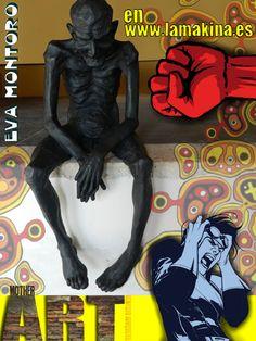Cartel promo del blog de  LA MAKINA Escuela de arte urbano,   para facebook. Ignacio Junquera