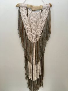 Macrame Wall Hanging Large Macrame Wall Hanging by SilverMoonMacrame on Etsy