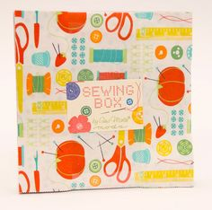 """Free US shipping! 100% Cotton 10"""" Layer Cakes Sewing Box by Gina Martin for Moda - Eye Candy Quilts www.eyecandyquilting.com"""