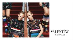 Valentino Fall Winter campaign captured by fashion photographer Michal Pudelka featuring top models Grace Hartzel, Ine Neefs and Maartje Verhoef. Fashion Images, Fashion News, Editorial Photography, Fashion Photography, Fashion Advertising, 2015 Trends, Celebrity Red Carpet, High End Fashion, Fall Winter 2015