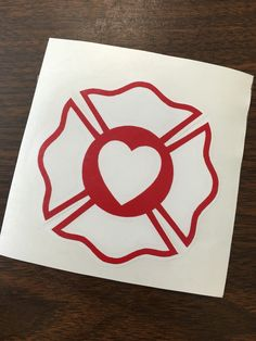 EMS Decal - Fire Fighter Decal - EMS Heart - Maltese Heart Decal - Paramedic…