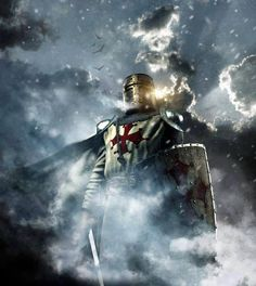 winter soldier. Medieval knight,Stand .