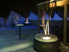 Die Weltbild-Terrasse im Winter