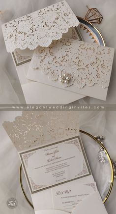 Inexpensive Wedding Invitations, Laser Cut Wedding Invitations, Wedding Invitation Cards, Wedding Cards, Invitation Ideas, Diy Wedding, Wedding Ideas, Wedding Gifts For Bridesmaids, Lace Weddings