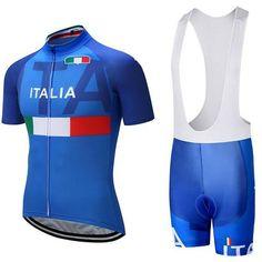 47f5b0a0515261 2018 Italy Short Sleeve Jersey Set. Team Cycling ...