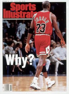 "Air Jordan VII --Colorway: ""Cardinal"" --Michael Jordan won a second-straight NBA championship in the J7's and made history as part of the ""Dream Team"" during the 1992 Barcelona Olympics.  Image: MJ on the cover Sports Illustrated magazine. #AirJordan #MichaelJordan #sneakers #sneakerhead #basketballshoes #AirJordanVII"