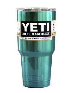 Mermaid Teal Yeti 30 oz Rambler Tumbler