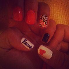 """""""love"""" nails <3"""