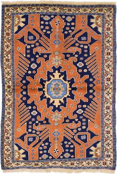 Rust Red Ardabil Area Rug