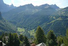 the valley beneath Gryon, Switzerland