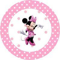"""Imprimés Thème """"Minnie"""" - Rose : http://fazendoanossafesta.com.br/2011/12/minnie-rosa-kit-completo-com-molduras-para-convites-rotulos-para-guloseimas-lembrancinhas-e-imagens.html/"""