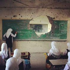 First day at school, Gaza, Palestine