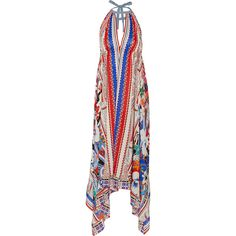 Etro Bombay printed silk crepe de chine maxi dress, Red, Women's,... ($685) ❤ liked on Polyvore featuring dresses, etro, red day dress, etro dresses, tie maxi dress y silk maxi dress