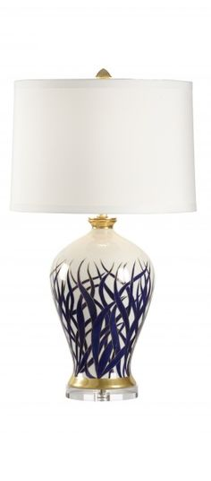 InStyle-Decor.com Chinese Blue White Porcelain Table Lamps, Simply Beautiful…