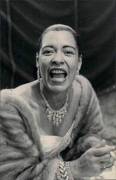 """BILLIE HOLIDAY, Billie Holiday was an American jazz singer and songwriter. Nicknamed """"Lady Day"""" by her friend and musical partner Lester Young, Holiday had a seminal influence on jazz and pop singing. Billie Holiday, Jazz Artists, Jazz Musicians, Parisienne Chic, Newport Jazz Festival, Divas, Lady Sings The Blues, Vintage Black Glamour, Cool Jazz"""