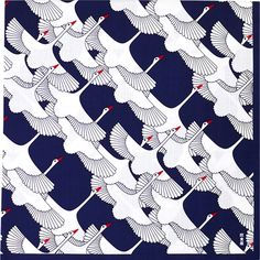Japanese fabric, Tsuru 大布 祝鶴|風呂敷,風呂敷(90cm)