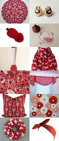 Red and White   a Touch of Black by Dix Cutler on Etsy--Pinned with TreasuryPin.com