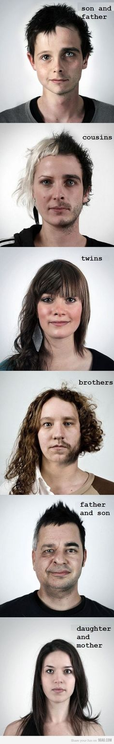 very well photoshoped faces