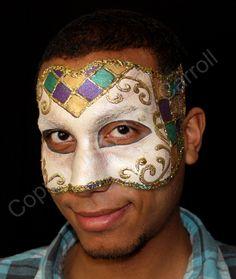 mardi gras makeup | Mardi Gras Face Masks Mardi-gras style venetian mask