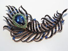 Peacock Feather, Silver Peacock Feather Pin Brooch, Pin Brooch, Peacock Brooch, Peacock Pin