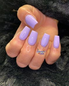 Wish for handy nails plans? Then study this quite easy peasy pin image reference. - Splendid Nails Really Dazzling Designs Short Square Acrylic Nails, Purple Acrylic Nails, Best Acrylic Nails, Purple Nails, Short Square Nails, Aycrlic Nails, Fire Nails, Perfect Nails, Long Nails